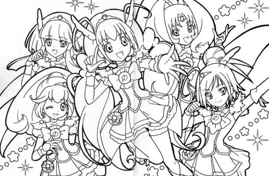 Tranh tô màu Anime dễ thương