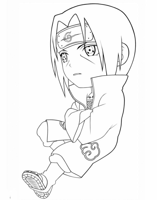 Tranh tô màu Anime Naruto cực đẹp