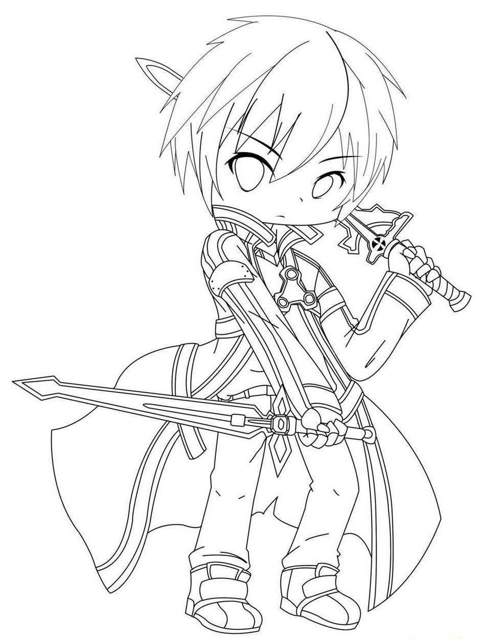 Tranh tô màu anime Sword Art Online