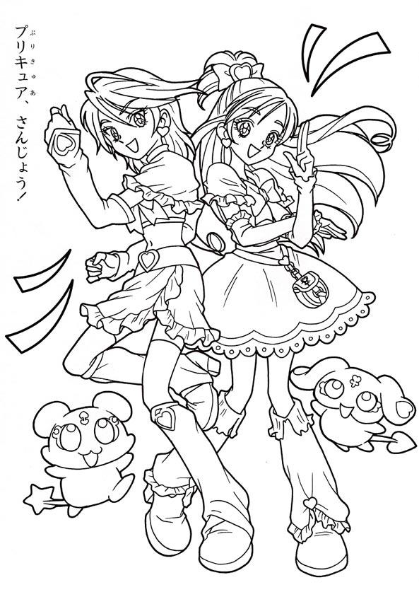 Tranh tô màu công chúa anime