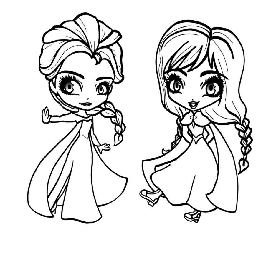 Tranh tô màu công chúa Elsa chibi