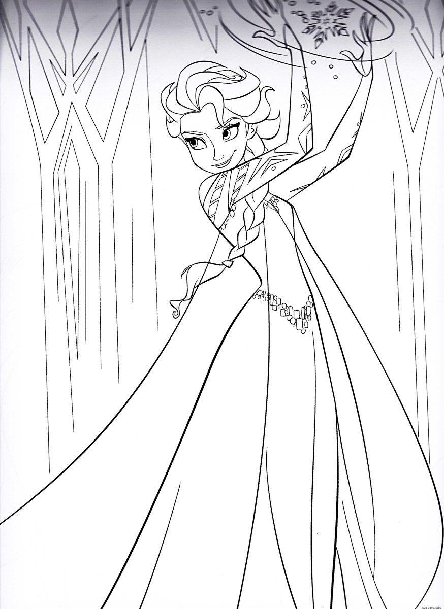 Tranh tô màu công chúa Elsa cực ngầu