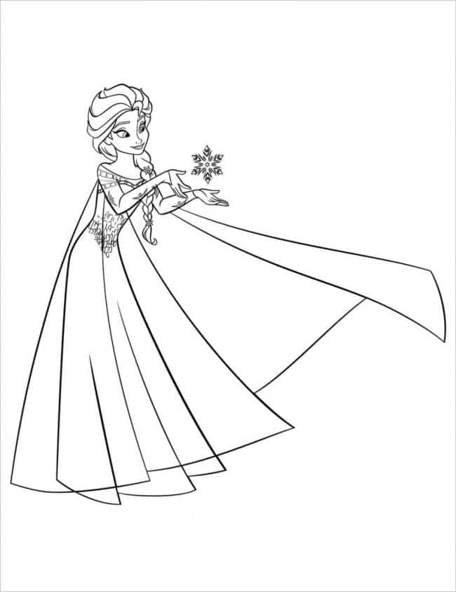 Tranh tô màu công chúa Elsa cực xinh