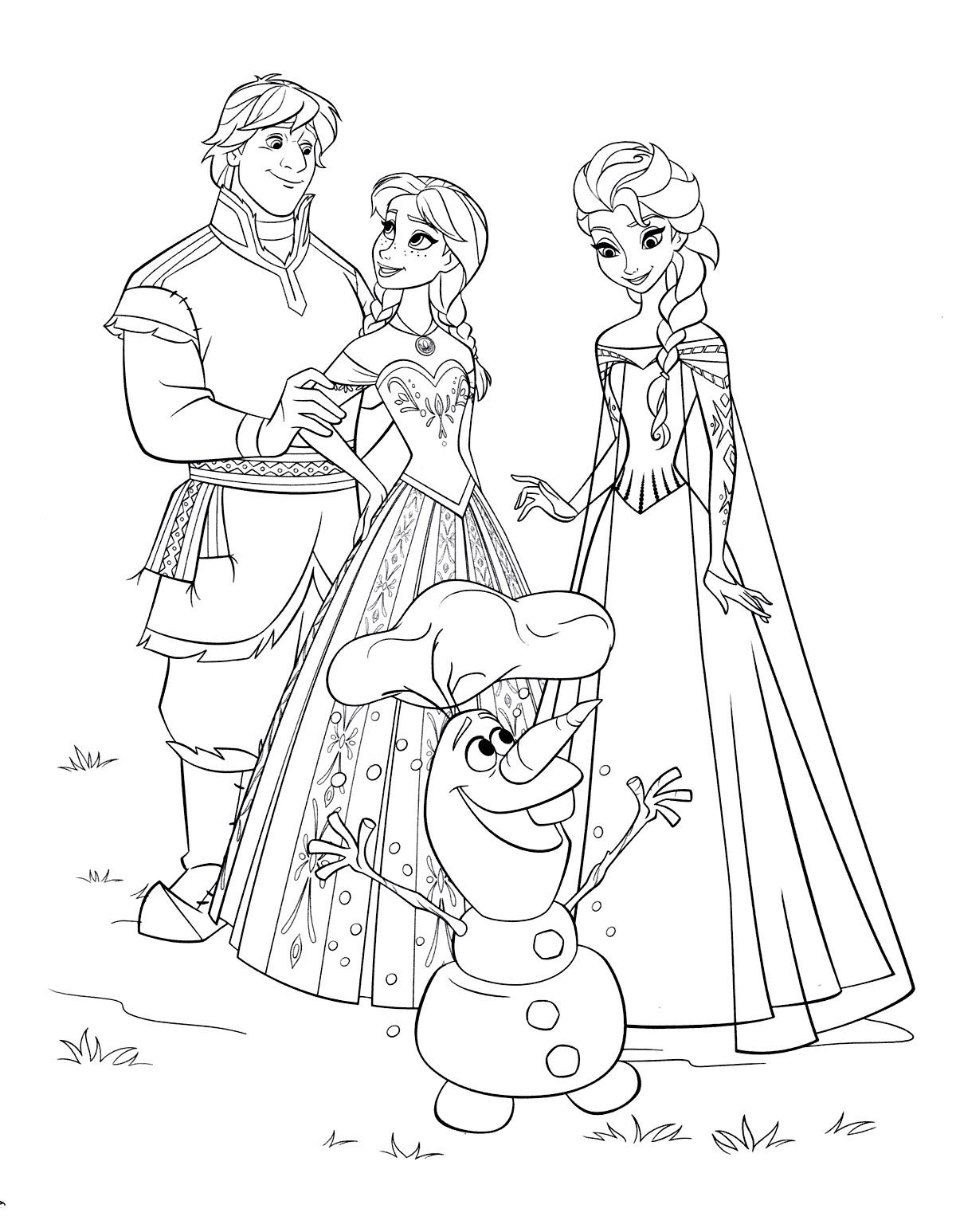 Tranh tô màu công chúa Elsa đẹp, hấp dẫn nhất