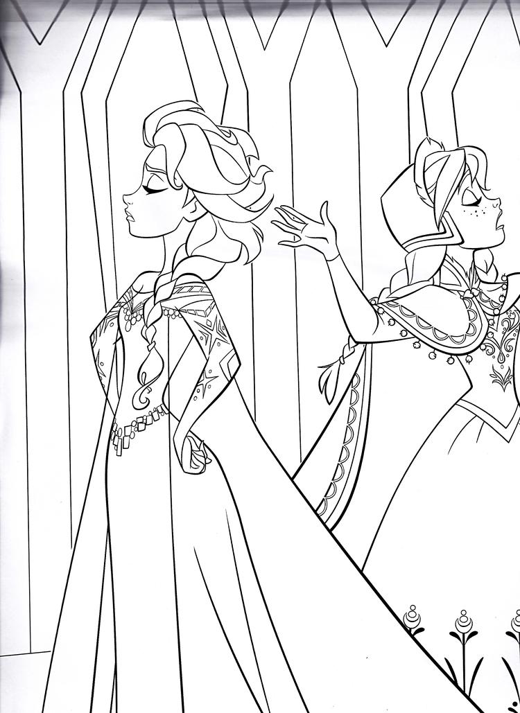 Tranh tô màu công chúa Elsa giận dỗi