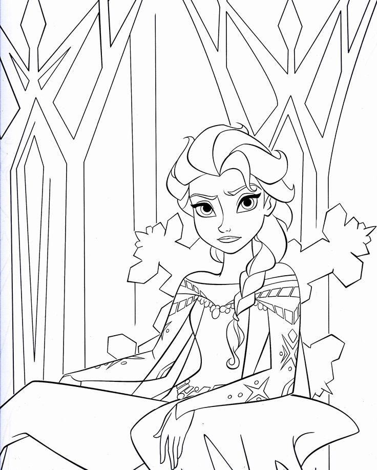 Tranh tô màu công chúa Elsa lạnh lùng