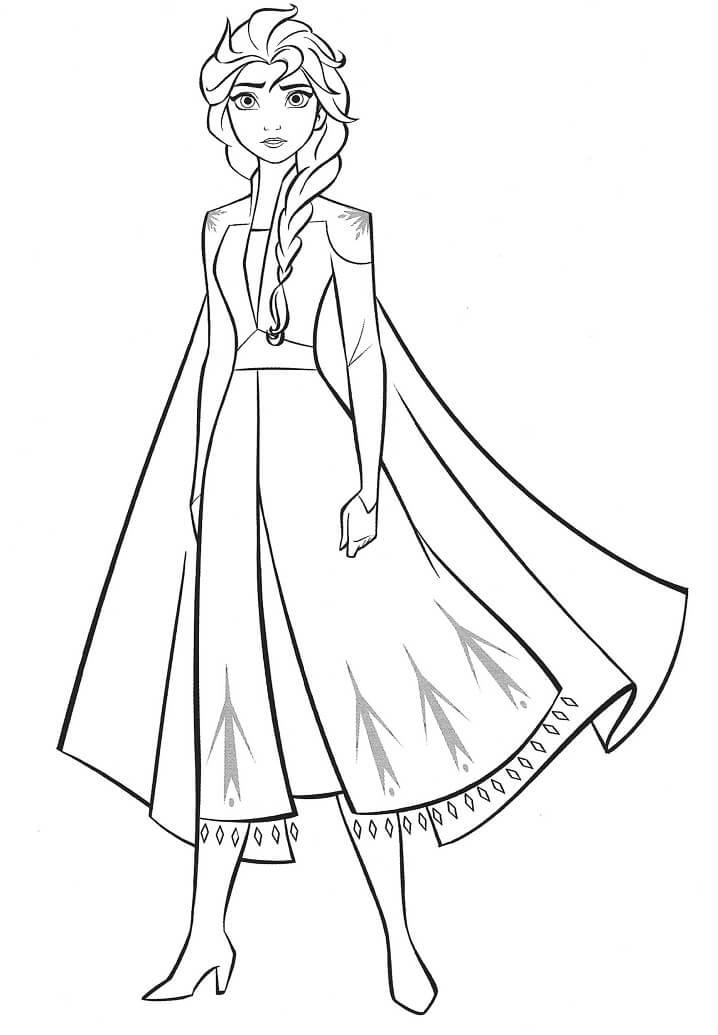 Tranh tô màu công chúa Elsa mạnh mẽ