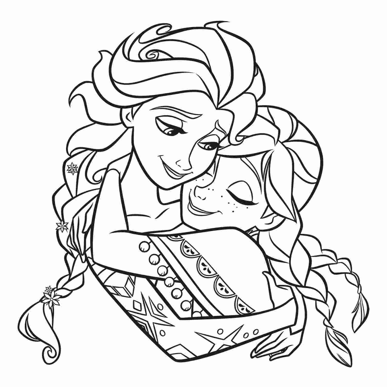 Tranh tô màu Elsa - nữ hoàng băng giá