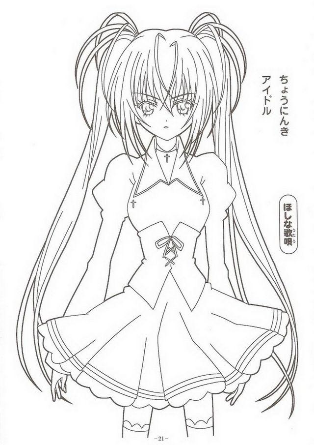 Tranh tô màu girl anime cực ngầu