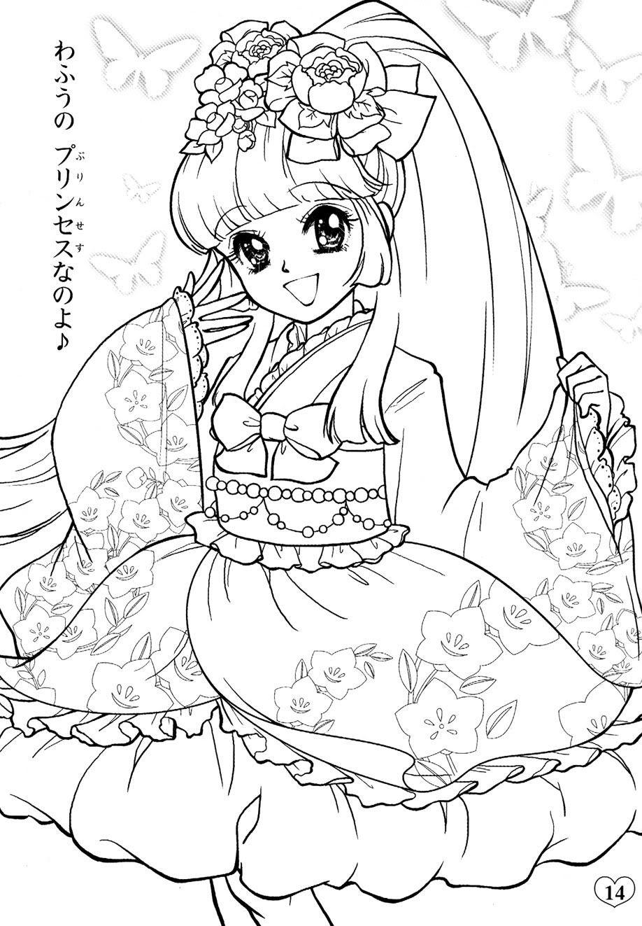 TRanh tô màu girl anime đẹp nhất