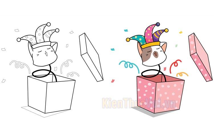 Tranh tô màu hộp quà