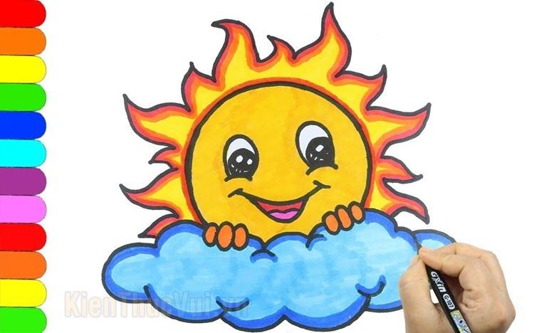 Tranh tô màu mặt trời