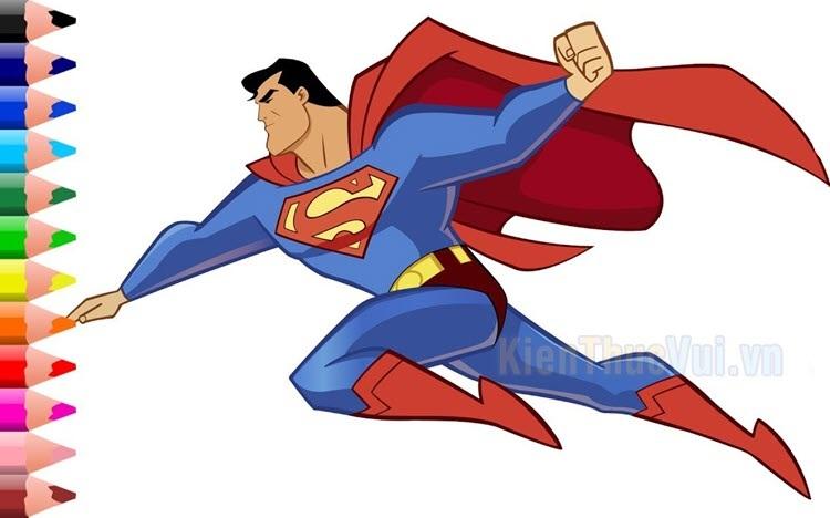 Tranh tô màu siêu nhân superman