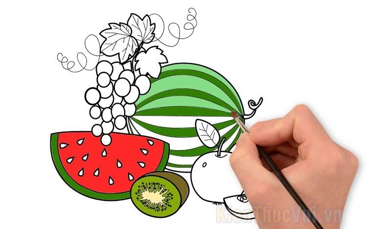 Tranh tô màu trái cây