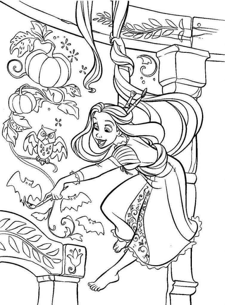 Rapunzel Coloring Page