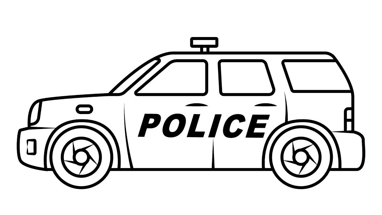 SUV Police Car Coloring Pages