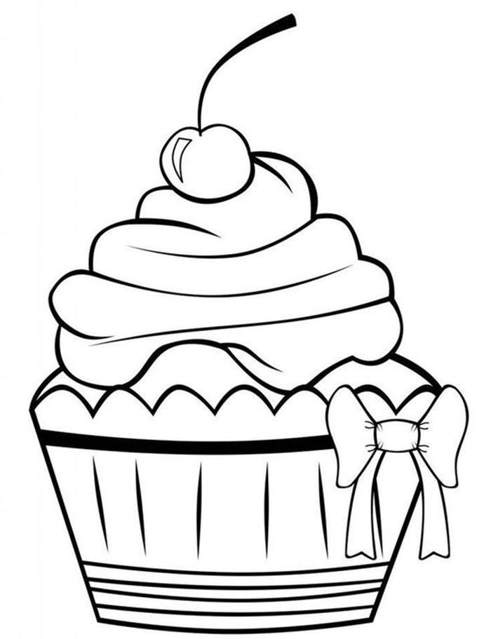 Tranh tô màu bánh kem sinh nhật