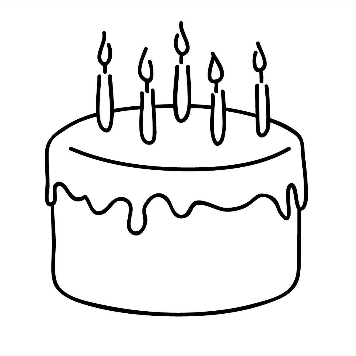 Tranh tô màu bánh sinh nhật đơn giản cho người mới