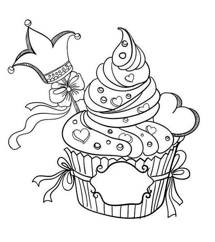 Tranh tô màu bánh sinh nhật trang hoàng lộng lẫy