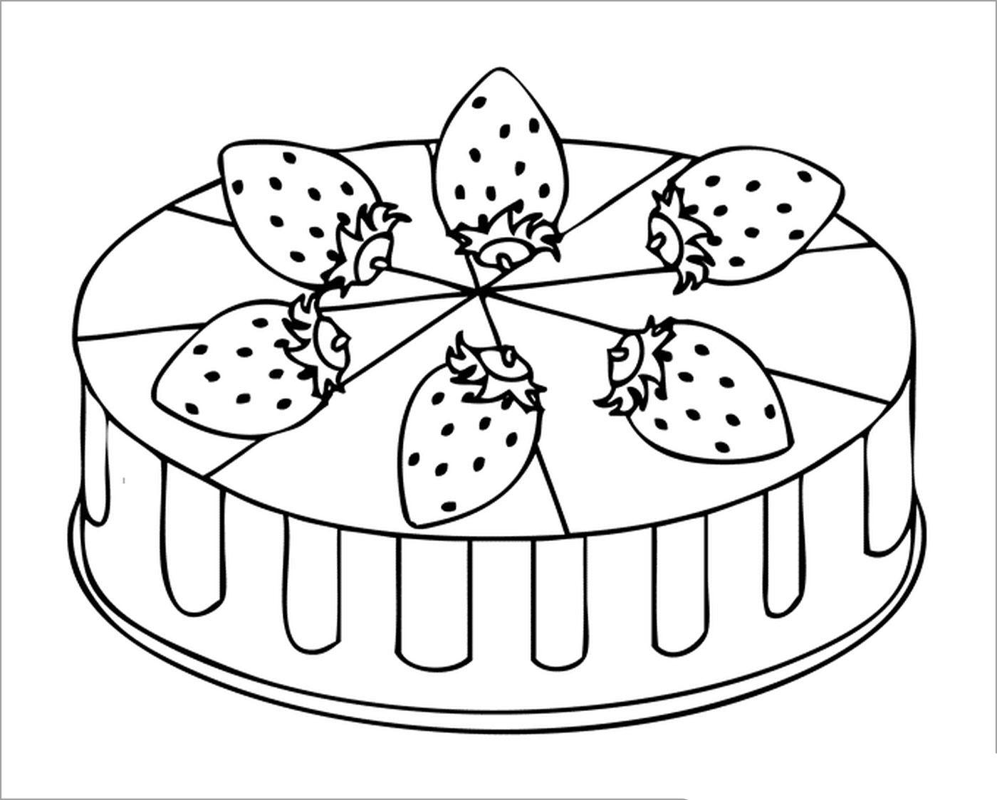 Tranh tô màu bánh sinh nhật ý nghĩa