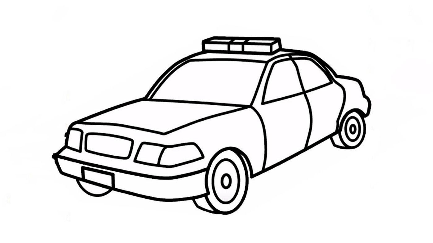 Tranh tô màu cảnh sát cho bé tập tô