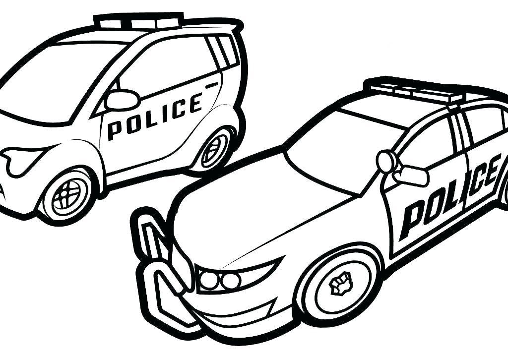 Tranh to màu cho bé hình xe cảnh sát