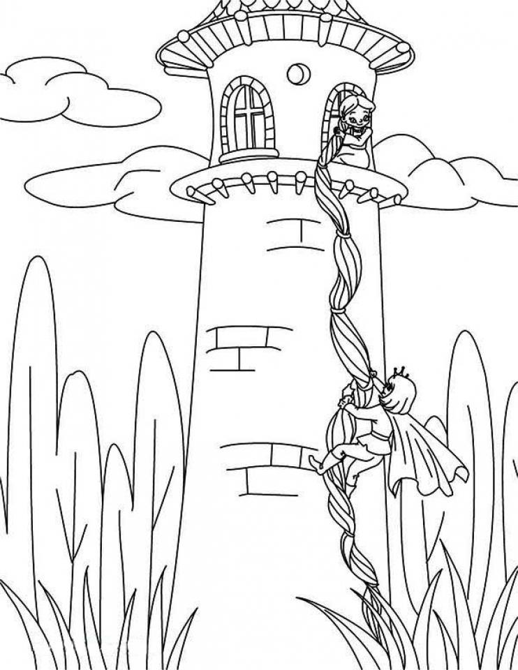 Tranh tô màu công chúa Disney Rapuzel