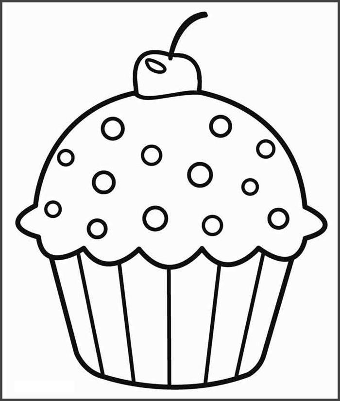 Tranh tô màu hình bánh kem cho bé