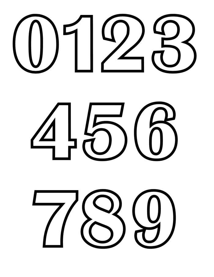 Tranh tô màu số đếm đơn giản