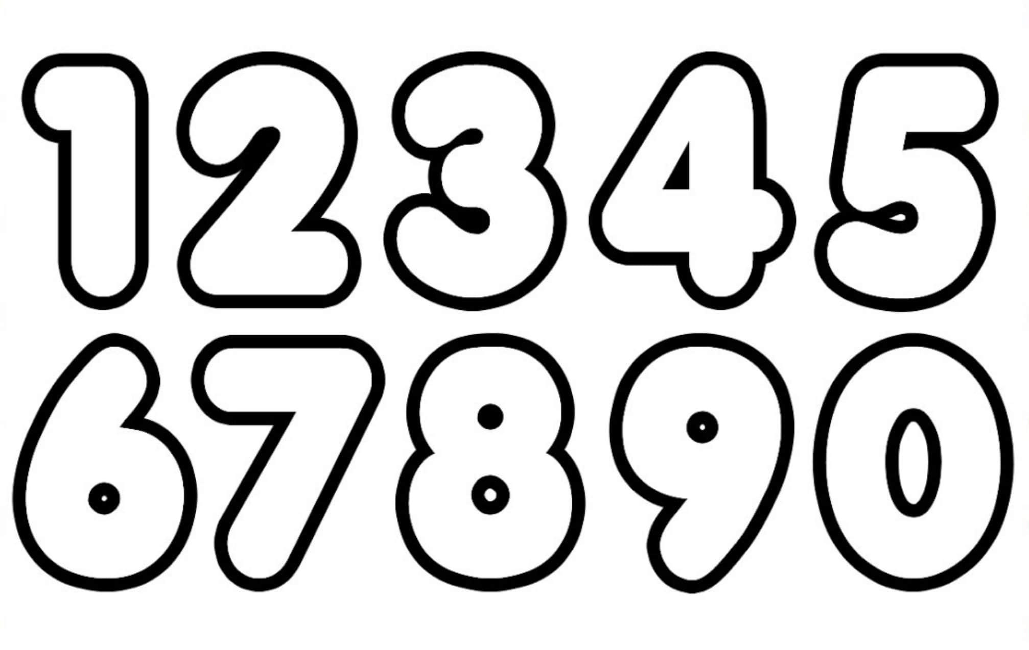 Tranh tô màu số thứ tự từ 0 đến 9