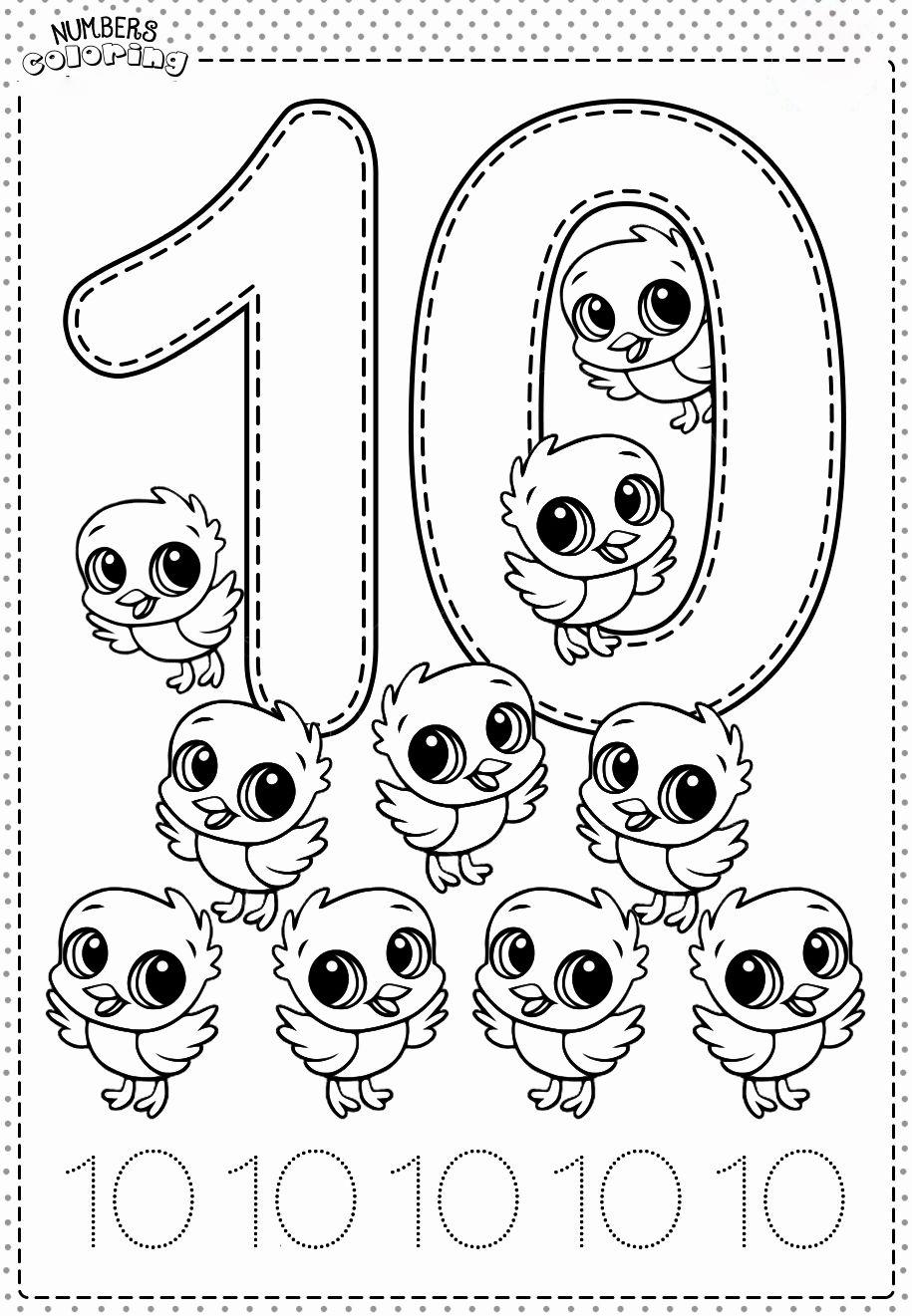 Tranh tô màu và tập tô Số 10 - 10 con gà