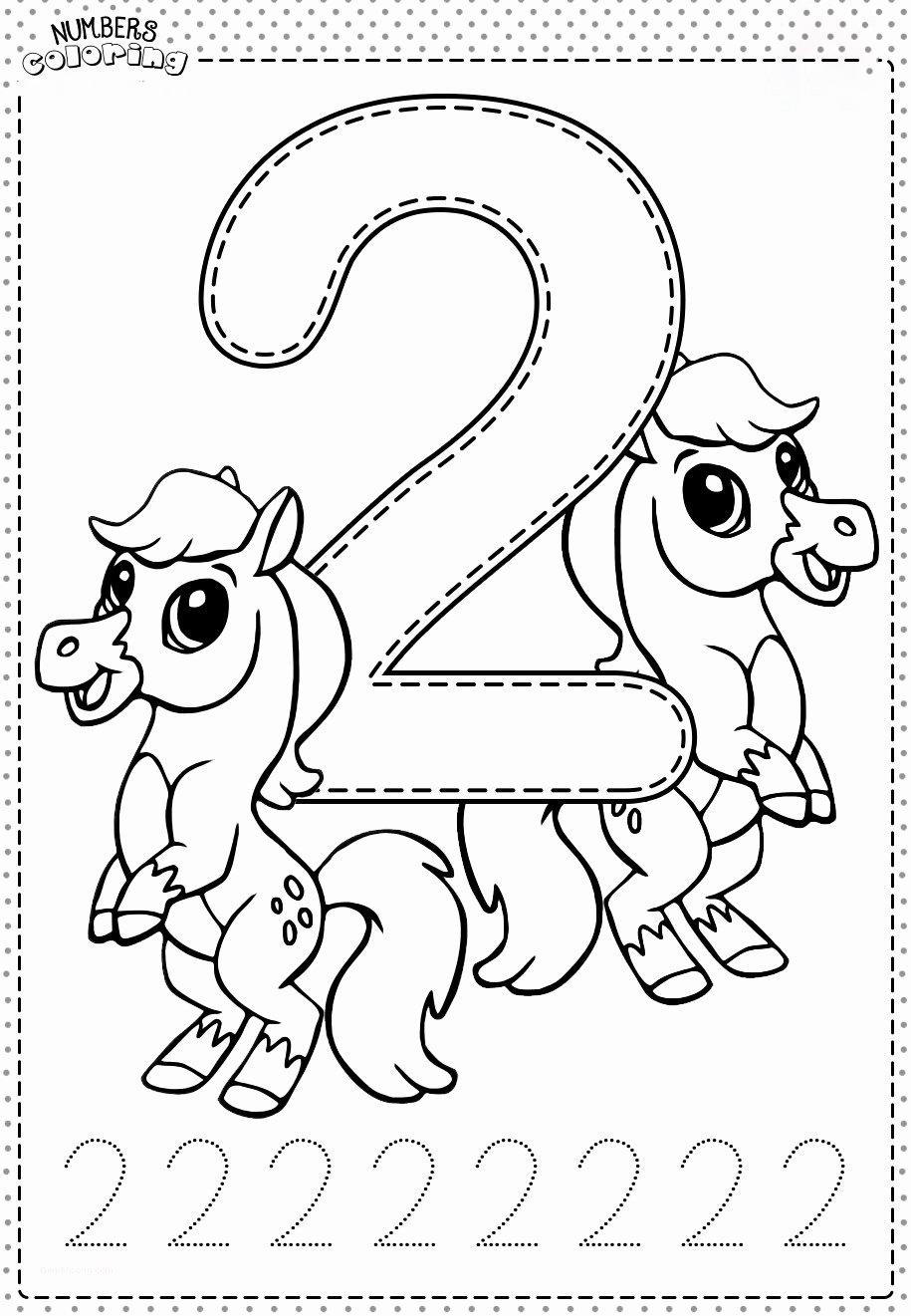 Tranh tô màu và tập tô Số 2 - 2 con ngựa