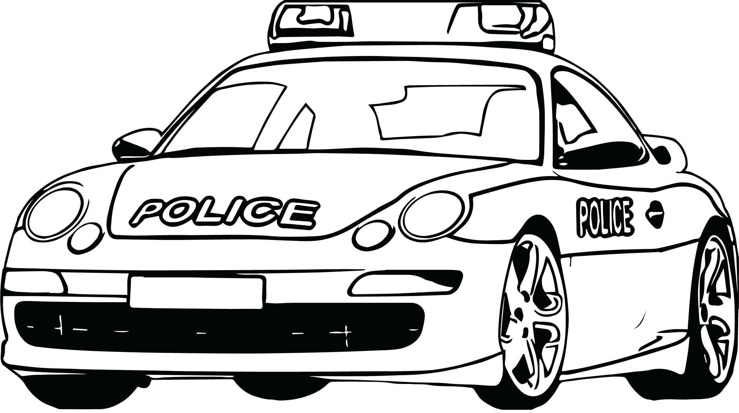 Tranh tô màu xe cảnh sát cực ngầu