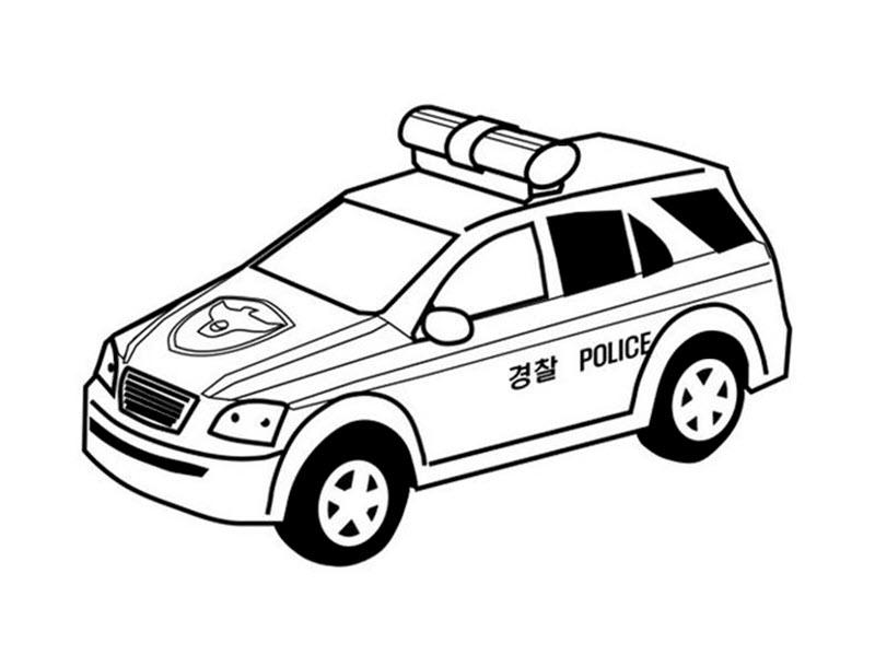 Tranh tô màu xe cảnh sát Hàn Quốc