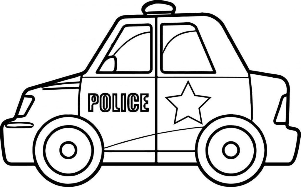 Tranh tô màu xe cảnh sát siêu chất