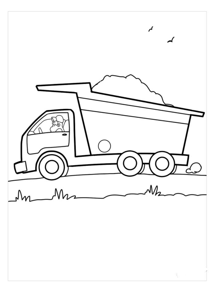 Dump Truck Coloring