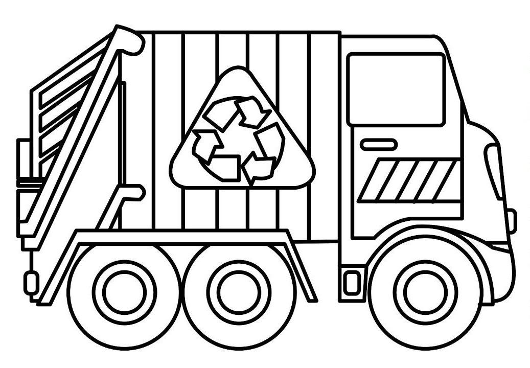 Hình tô màu xe chở rác