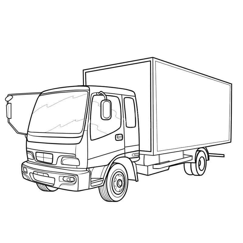 Hình tô màu xe ô tô tải