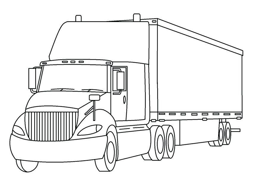 Hình tô màu xe tải cho bé trai đẹp