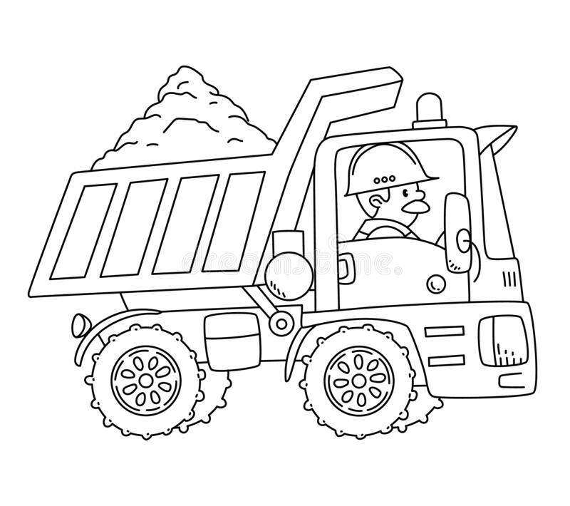 Hình tô màu xe tải chở cát