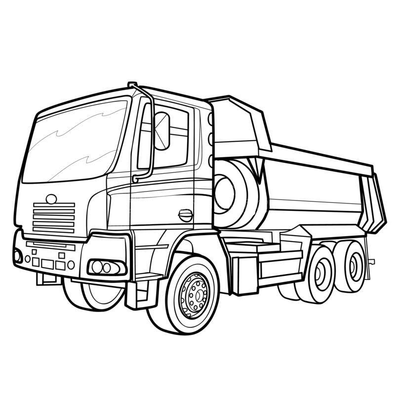 Hình tô màu xe tải đẹp nhất