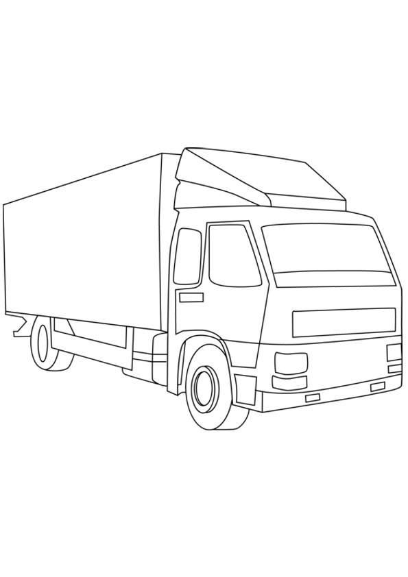 Hình tô màu xe tải đơn giản, đẹp cho bé luyện tô
