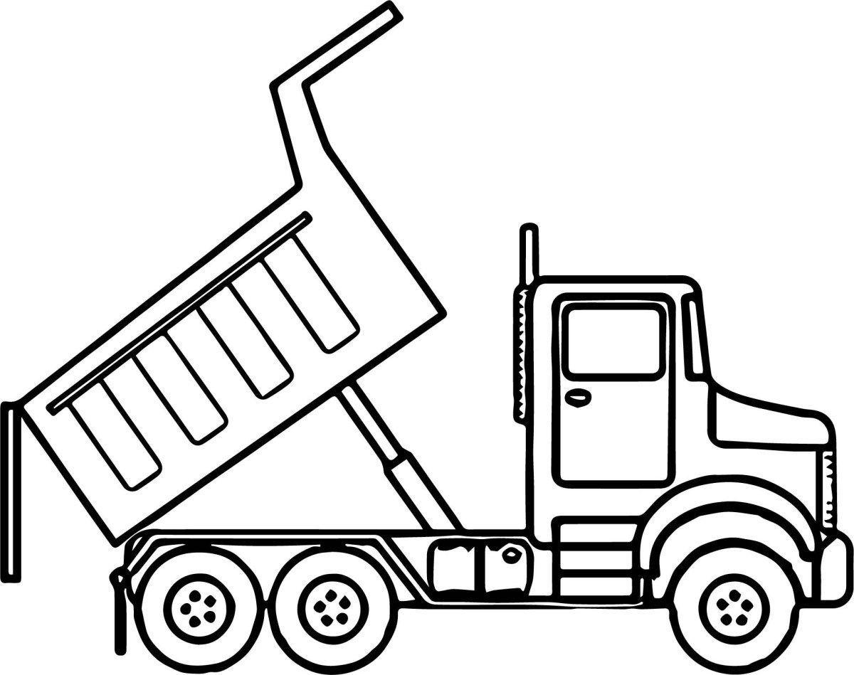 Hình tô màu xe tải đơn giản