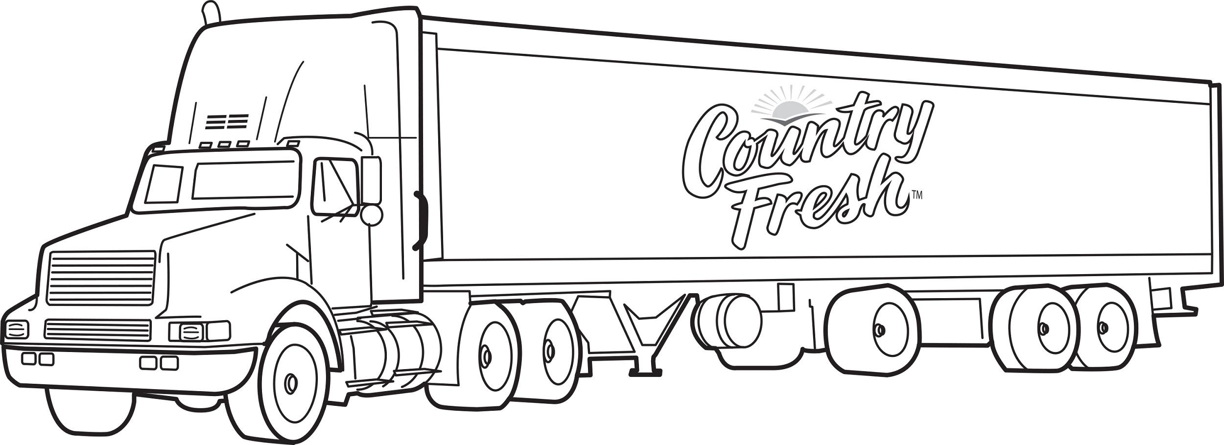 Hình tô màu xe tải hạng nặng
