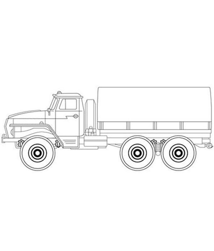 Hình tô màu xe tải