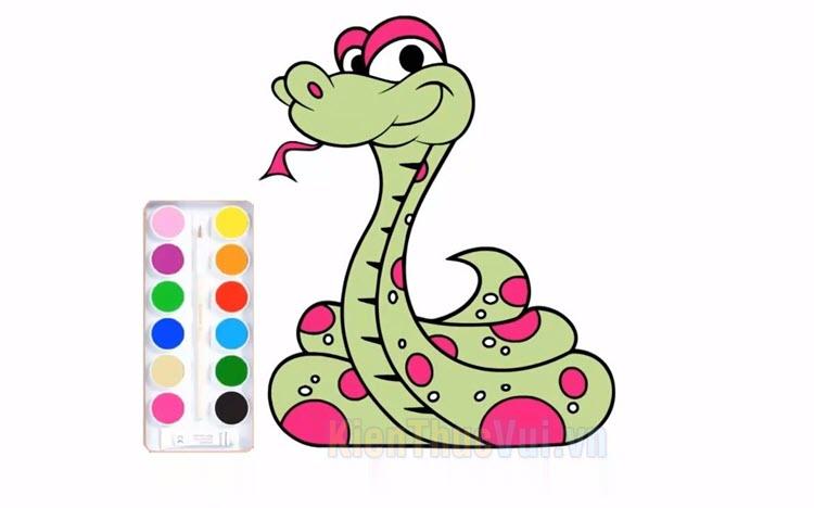 Tranh tô màu con rắn