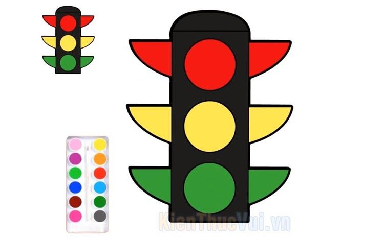 Tranh tô màu đèn giao thông
