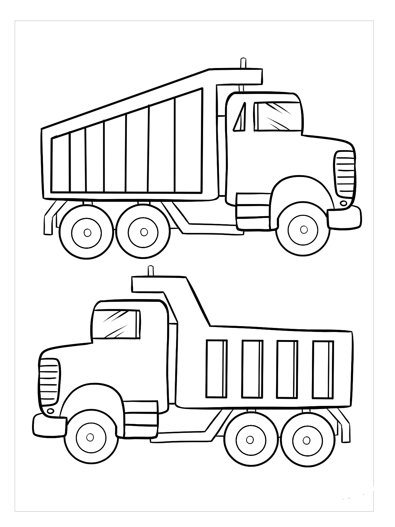Tranh tô màu hình ô tô tải