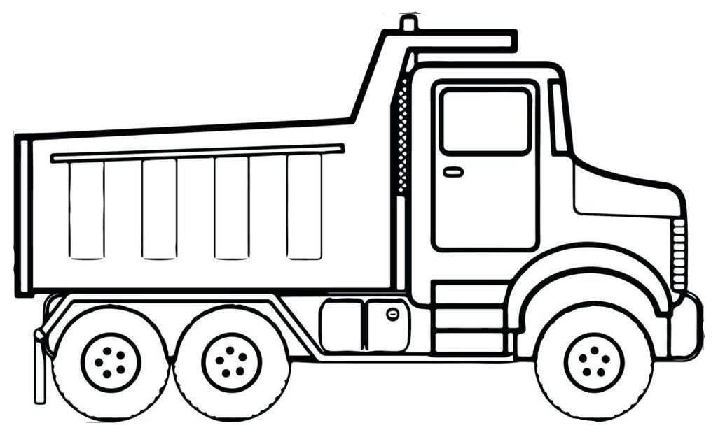 Tranh tô màu ô tô tải