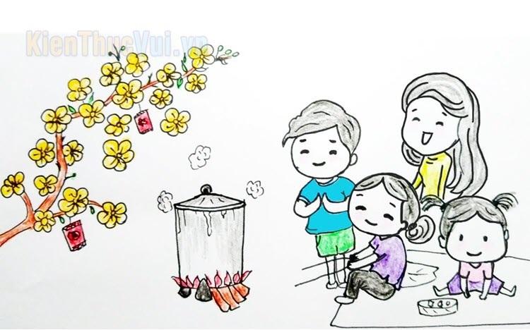 Tranh tô màu tết và mùa xuân